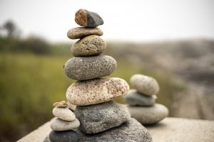 Zen stone balance rock arrangement relaxation calm