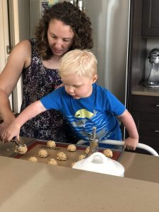 In her spare time, Jenny Gallow enjoys baking with her nephew